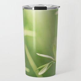 Green Nature Photography, Green Leaves Botanical Art Photo, Colorful Modern Print Travel Mug