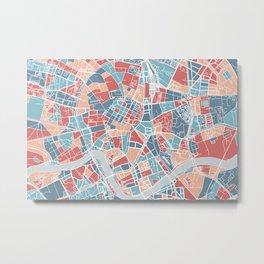 Krakow map Metal Print