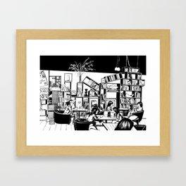 Cafe in Beijing  Framed Art Print