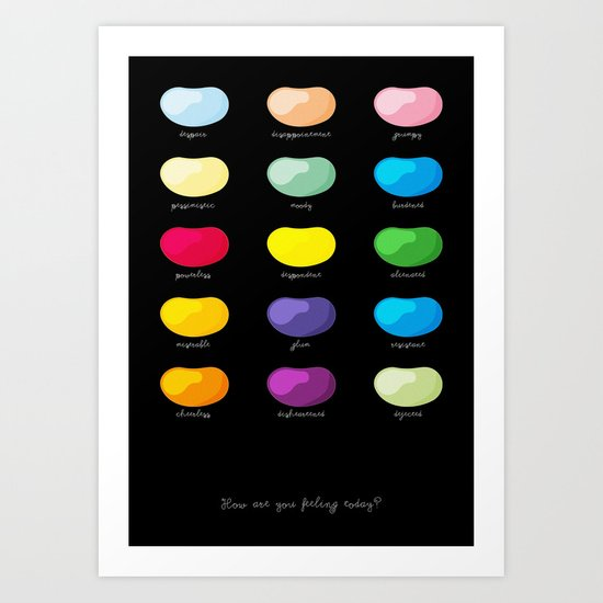 Every emotion beans Art Print