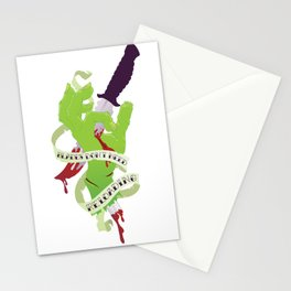 Zombie Hand: Blades Don't Need Reloading Stationery Cards