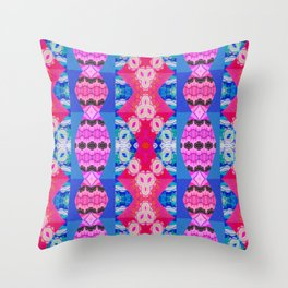 Modern Neo Tribal Ultra Brite Boho Snake Skin Motif Throw Pillow