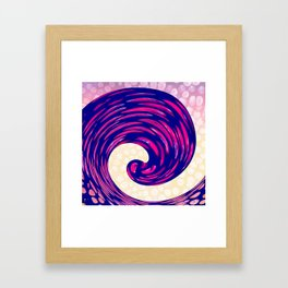 Watching the Waves During Sunset Framed Art Print