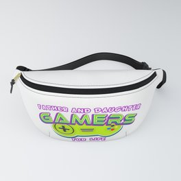 Father and Daughter Gamers For Life Fanny Pack