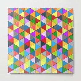 Colorful triangle galore geometric pattern Metal Print