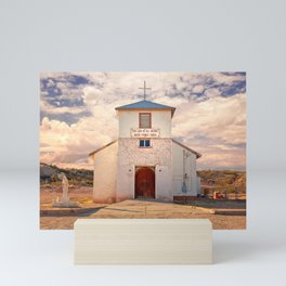 Country Church - Rincon, New Mexico, Our Lady of All Nations Mini Art Print