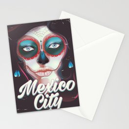 Mexico City Day of the Dead Stationery Cards