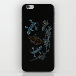 Butterfly With Geckos iPhone Skin