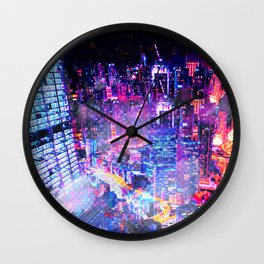 Cyberpunk City Wall Clock