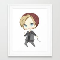 pewdiepie Framed Art Prints featuring Pewdiepie Infamous: Second Son by PumpkinElite