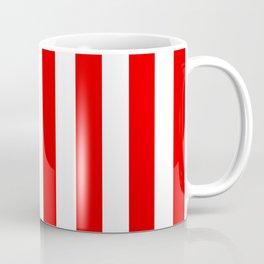 Holidaze Stripe Red White Vertical Coffee Mug