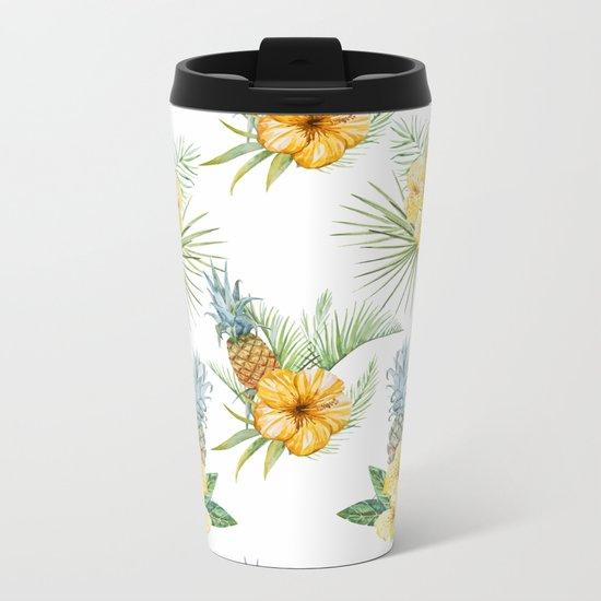 Pineapple Pattern 01 Metal Travel Mug