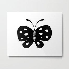 Monochrome butterfly Metal Print
