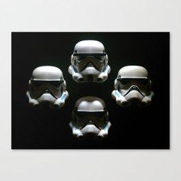 block storm trooper Canvas Print