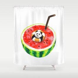 How Pandas Keep it Cool Shower Curtain