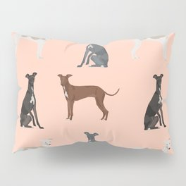 Italian Greyhound dog breed pet portrait unique pure breed gifts Pillow Sham