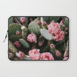 PINK CACTUS FLOWER ABSTRACT CLUSTER PATTERN Laptop Sleeve