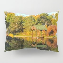 Calm Day at the Pond Pillow Sham