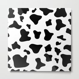 Animal Print Pattern – Dalmatian Metal Print