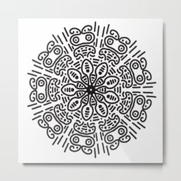 Spiral hand made Metal Print