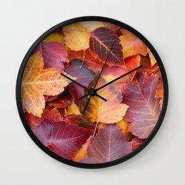 Autumn's Carpet Wall Clock
