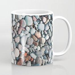 pebble stone floor, nature pattern background Coffee Mug