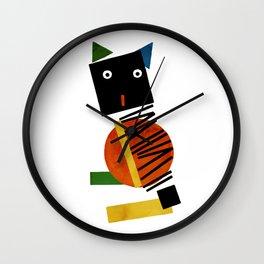 Black Square Cat - Suprematism Wall Clock
