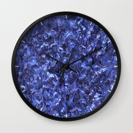 Abalone Shell | Paua Shell | Sea Shells | Patterns in Nature | Dark Blue Tint | Wall Clock