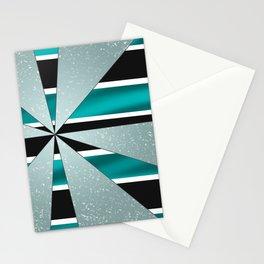 4Shades Glass: Blue B/W Stationery Cards