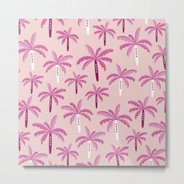 Sweet candy summer palm trees pattern Metal Print