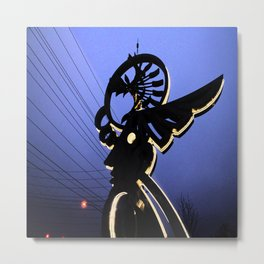 The Angel Trapped in Wires Metal Print