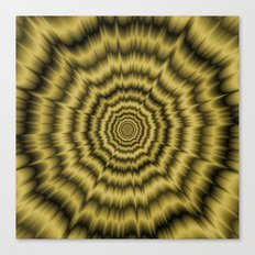 Eye Boggling Explosion in Gold Canvas Print