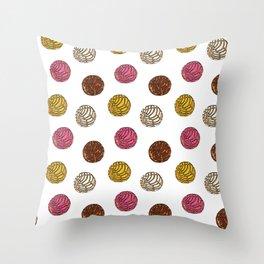 Pan Dulce (white bg) Throw Pillow