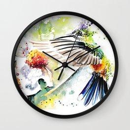 Hummingbird 3 Wall Clock