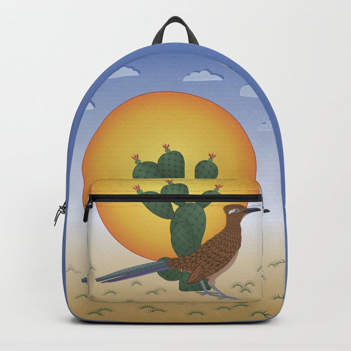 Soul of the Southwest - Roadrunner in the Desert Rucksack