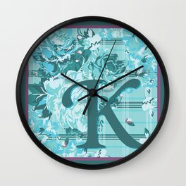 K is for Kimberly, Karen, Kaitlin, Karla, Kandace, Karinya, Kassandra, Kamilla Wall Clock