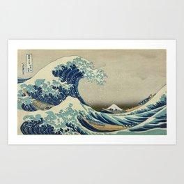 Vintage poster - The Great Wave Off Kanagawa Art Print