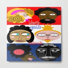 bbnyc liberty, equality and fraternity (brotherhood) Metal Print