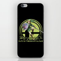 smash bros iPhone & iPod Skins featuring Link - Super Smash Bros. by Donkey Inferno
