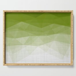 Imperial Emerald - Minimal Geometric Triangles Serving Tray