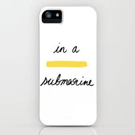 In a Yellow Submarine x Telma W. iPhone Case