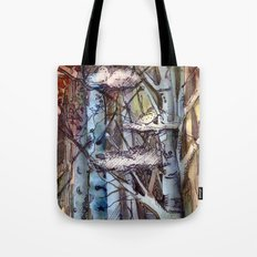 Clouds in the Trees Tote Bag