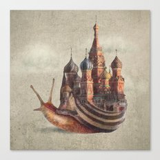 The Snail's Daydream Canvas Print