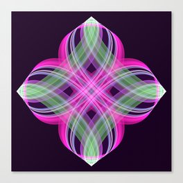 Four points decorative abstract design Canvas Print