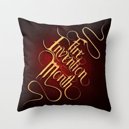 Fire Invention Month Throw Pillow
