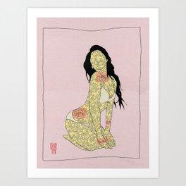 GIRL03 Art Print