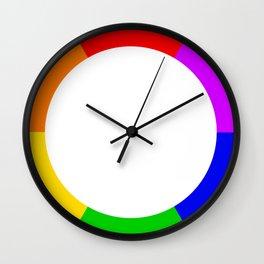 LGBT Rainbow Circle Wall Clock
