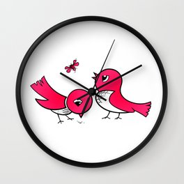 Cute little birds Wall Clock