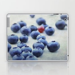 Blue berries with one red currant Laptop & iPad Skin