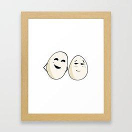 Egging you on Framed Art Print
